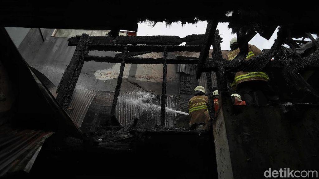 Aksi Pemadam Kebakaran Jinakkan Api di Gunung Sahari