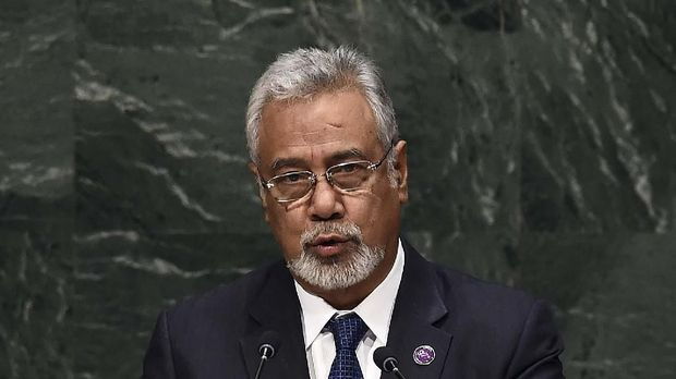 East Timor's Prime Minister Xanana Gusmao speaks during the 69th Session of the UN General Assembly at the United Nations in New York on September 25, 2014. AFP PHOTO/Jewel Samad (Photo by JEWEL SAMAD / AFP)