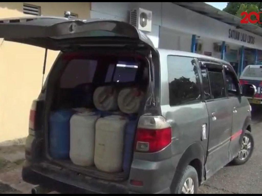 Mobil Berisi Ribuan Liter BBM Diamankan Polisi