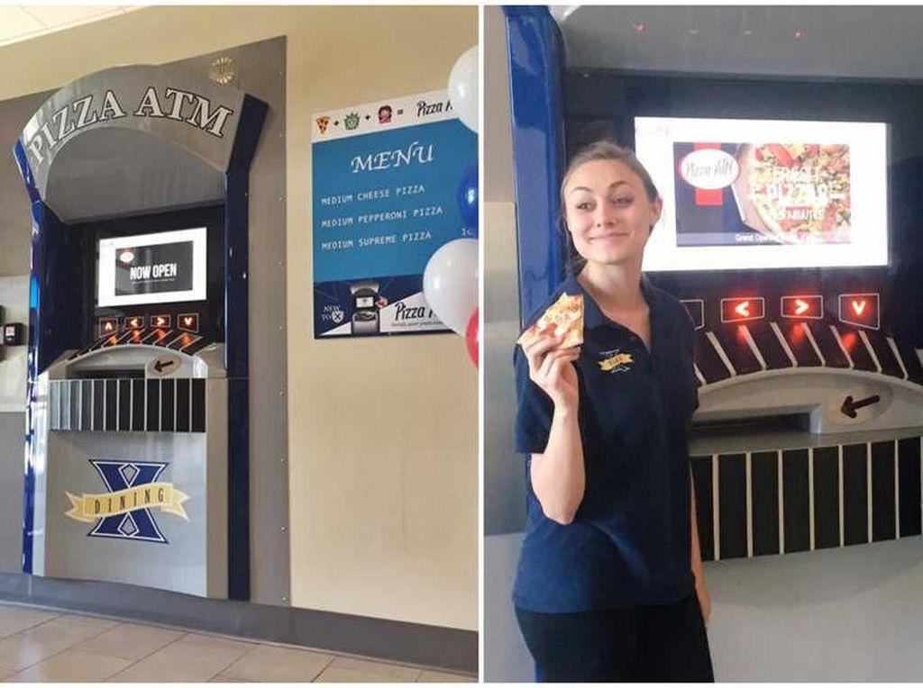 Bukan Uang, ATM Ini Khusus Sediakan Pizza Hangat Selama 24 Jam