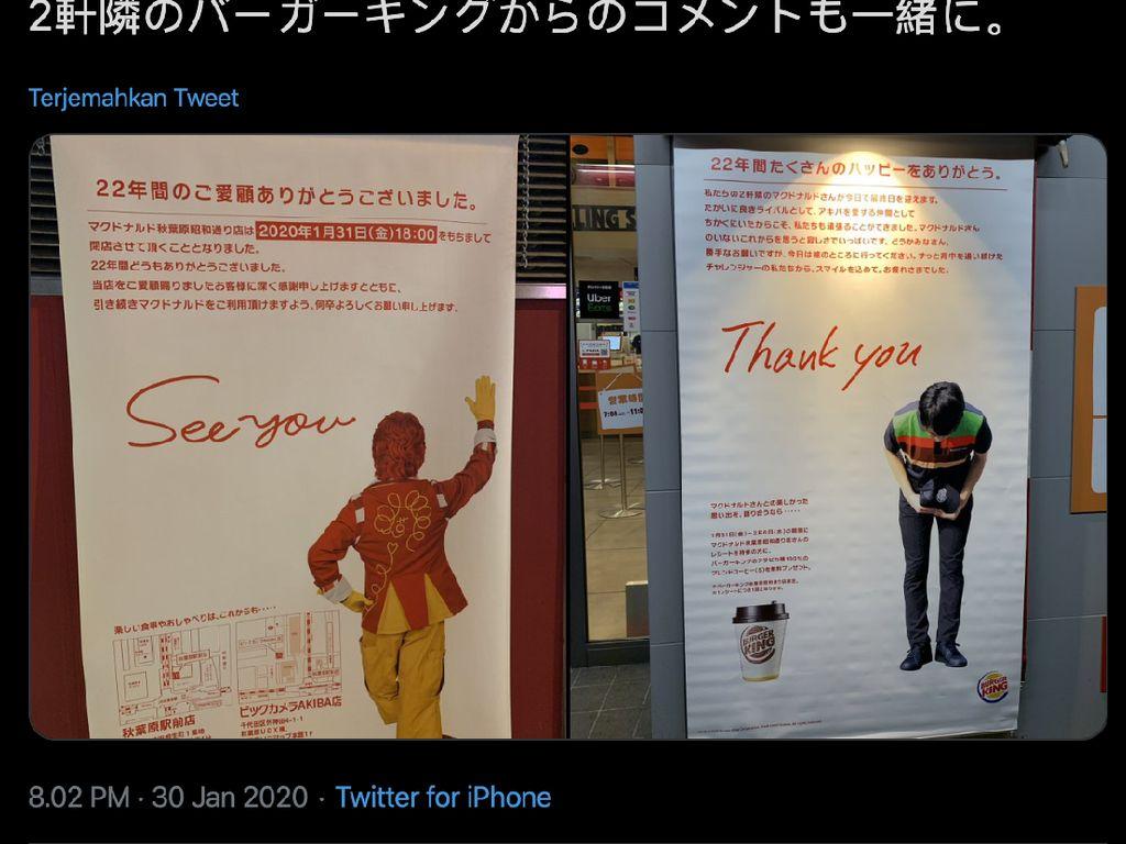 McDonalds Akihabara Tutup, Burger King Beri Pesan Manis, Tapi...