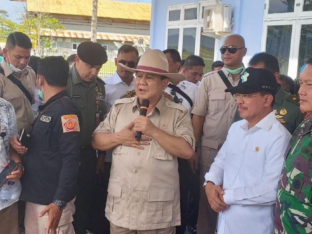 Prabowo Sesalkan Cuma Bisa Sapa 238 WNI dari Wuhan di Natuna dari Bus