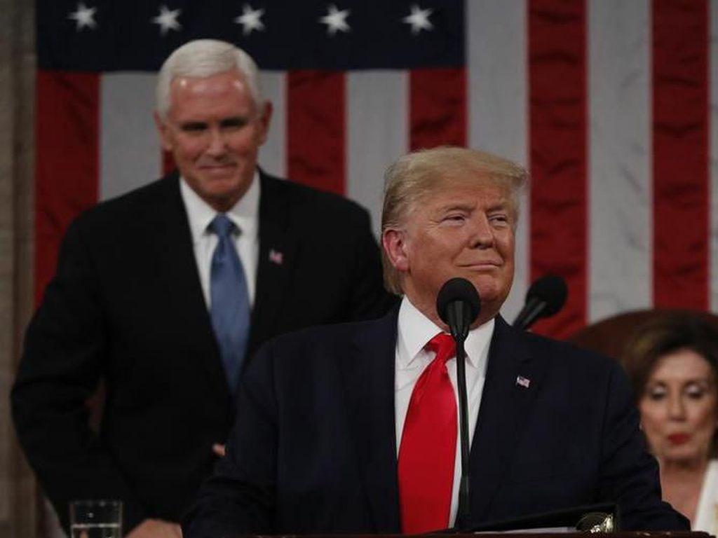 Tak Ungkit Pemakzulan, Pidato Kenegaraan Trump Banggakan Ekonomi AS
