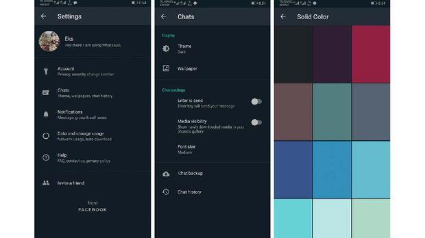 Warna-warna yang Bikin 'Dark Mode' Whatsapp Makin Keren