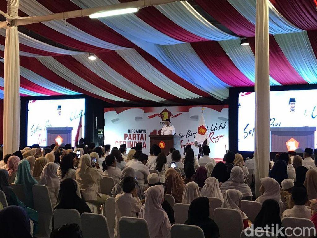 Saat Prabowo Bilang Gerindra Tak Punya Uang buat Gaji Pejabat Partai