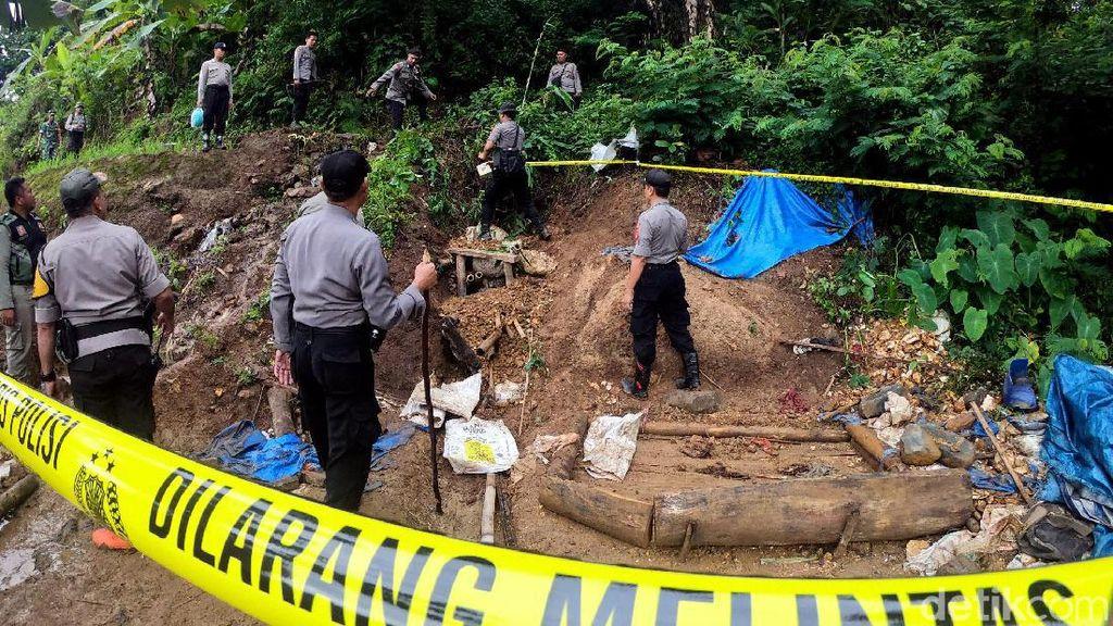 Aparat Gabungan Tutup Tambang Emas Ilegal di Sukabumi
