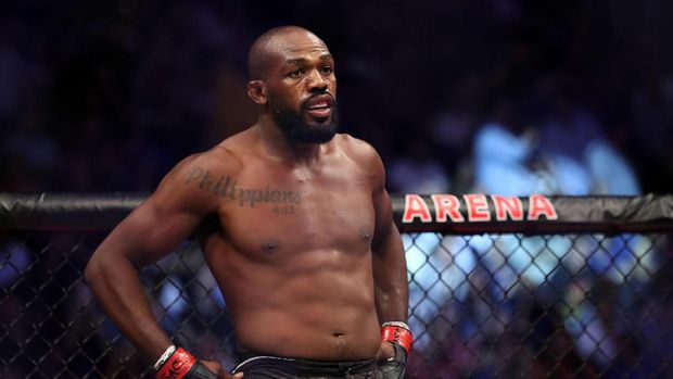 LAS VEGAS, NEVADA - JULY 06: Jon Jones of the United States looks on prior to his UFC Light Heavyweight Title bout against Thiago Santos of Brazil at T-Mobile Arena on July 06, 2019 in Las Vegas, Nevada. Jones defeated Santos by decision. Sean M. Haffey/Getty Images/AFP