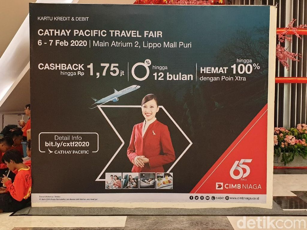 Ini Daftar Harga Tiket Pesawat di Cathay Pacific Travel Fair 2020