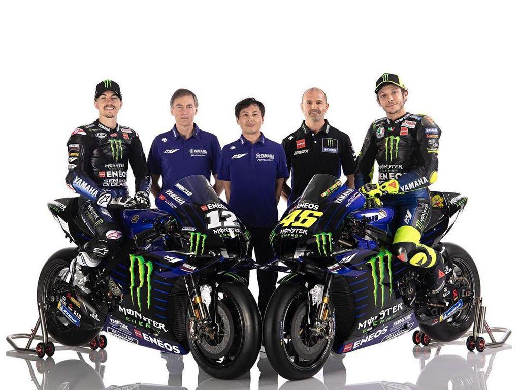 Rossi-Vinales Luncurkan Motor MotoGP Yamaha YZR-M1 Musim 2020