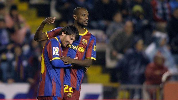 Lionel Messi tidak senang dengan komentar Eric Abidal di media sosial.