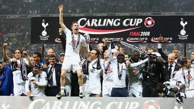 Gelar terakhir yang diraih Tottenham, Piala Liga Inggris 2008.
