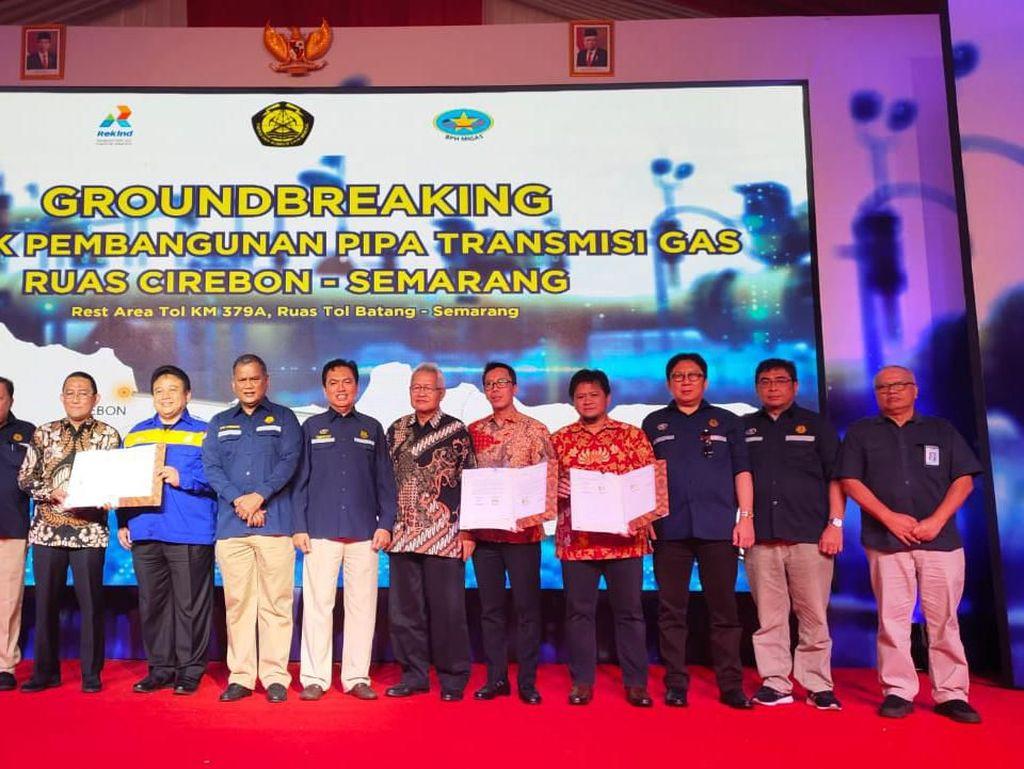 BPH Migas Resmikan Groundbreaking Proyek Pipa Gas Cirebon-Semarang