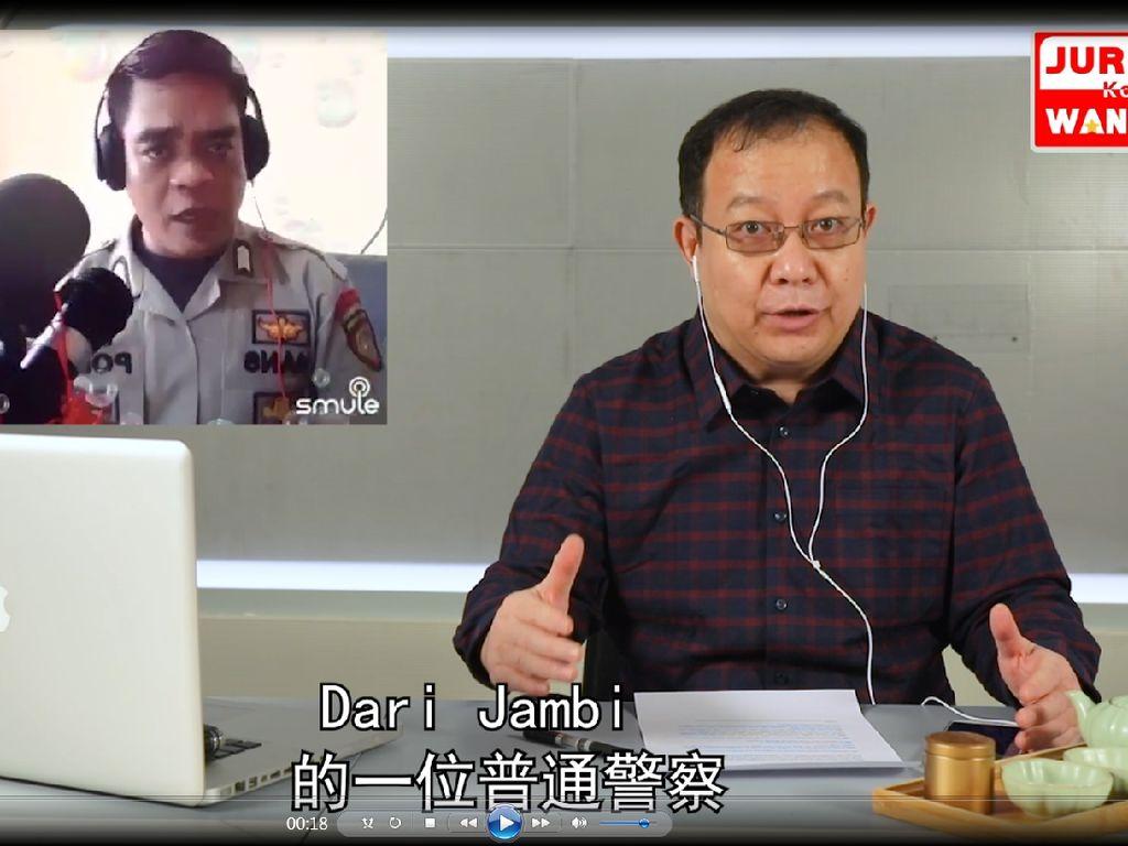 Beri Dukungan ke Warga Wuhan, Polisi RI Nyanyikan Lagu Jiayou Wuhan