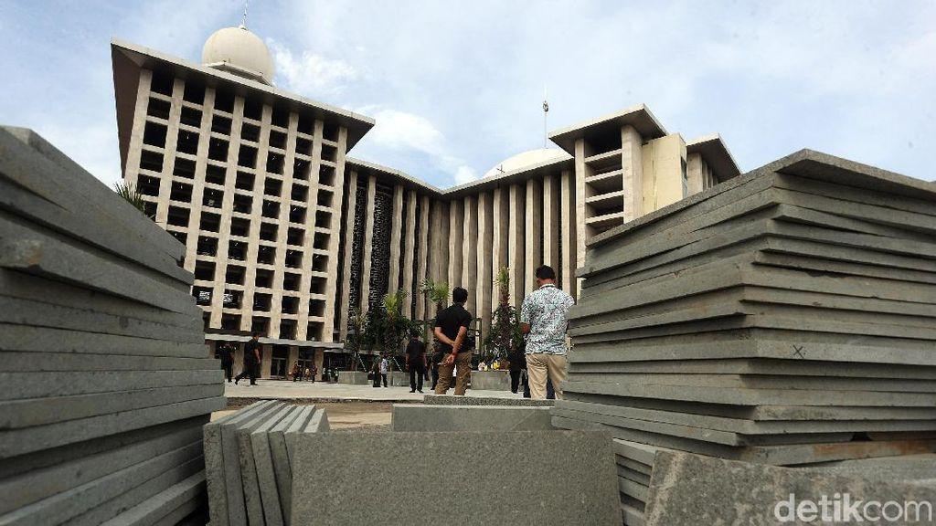 Penampakan Terkini Progres Renovasi Masjid Istiqlal