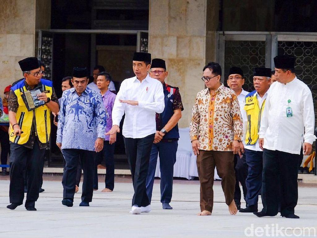 Jokowi Targetkan Renovasi Masjid Istiqlal Rampung April