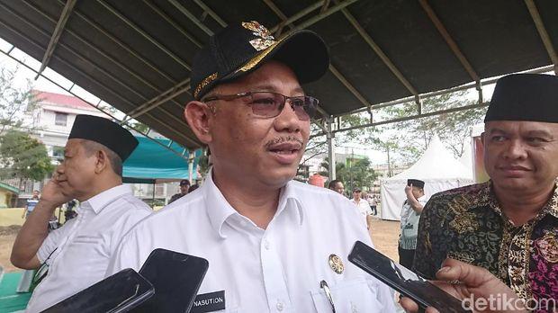 Ahmad Arfah-detikcom/ Plt Wali Kota Medan Akhyar Nasution saat melakukan pengecekan lokasi MTQ