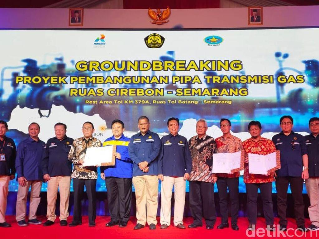 Momen BPH Migas Groundbreaking Pipa Transmisi Gas Cirebon-Semarang