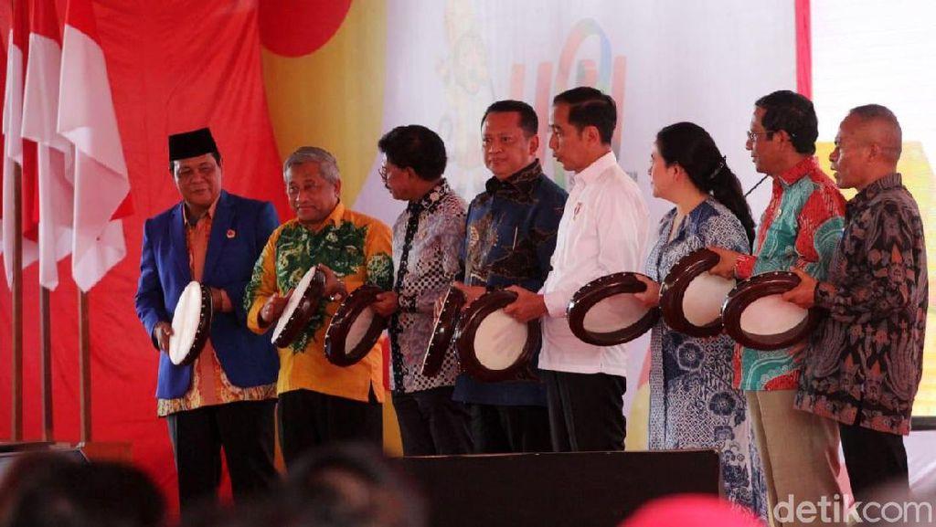 Momen Jokowi Hadiri HPN di Kalsel