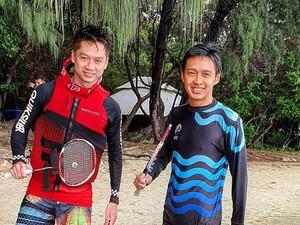 Kevin Sanjaya Liburan ke Pulau Seribu, Mainnya pun Bulutangkis Air