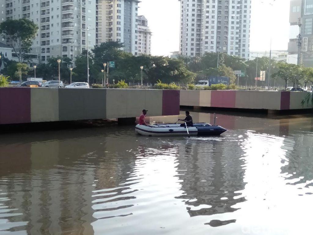 Disedot Pompa, Banjir di Underpass Kemayoran Turun Jadi 3,5 Meter