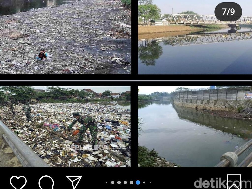 Ridwan Kamil Posting Before-After Citarum, Seperti Ini Kondisi di Lapangan