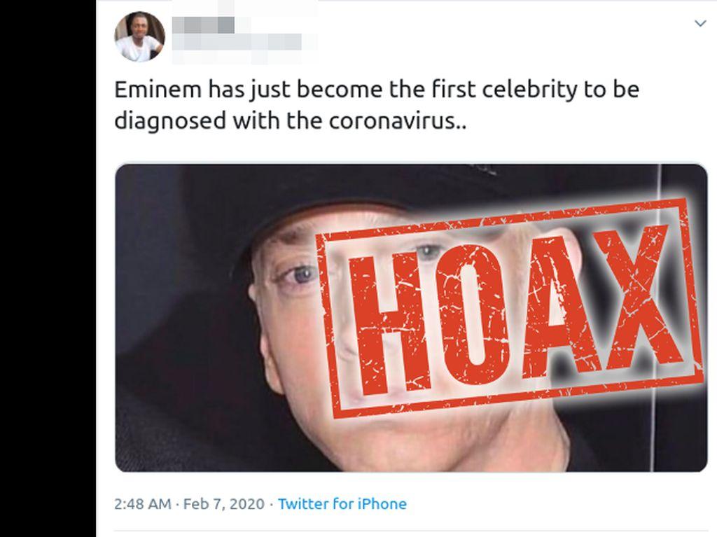 Rapper Eminem Dikabarkan Kena Virus Corona, Ini Faktanya