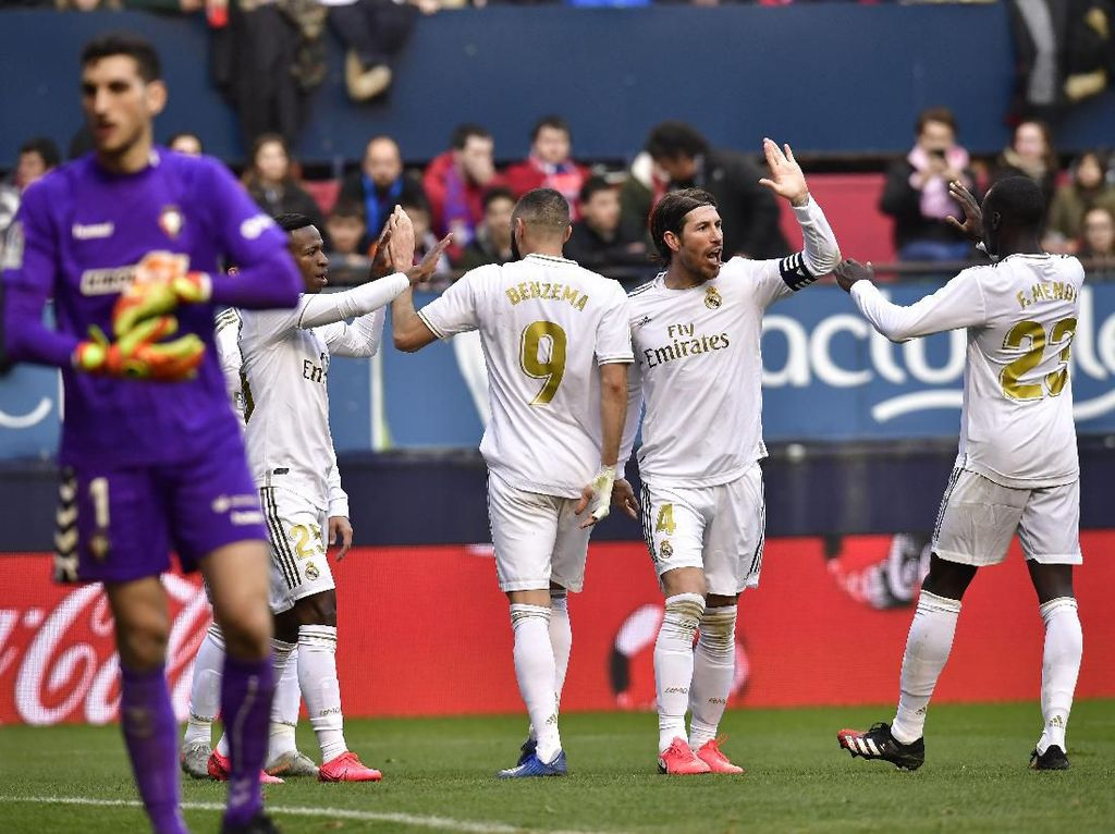 Osasuna Vs Real Madrid: Comeback, El Real Menang 4-1
