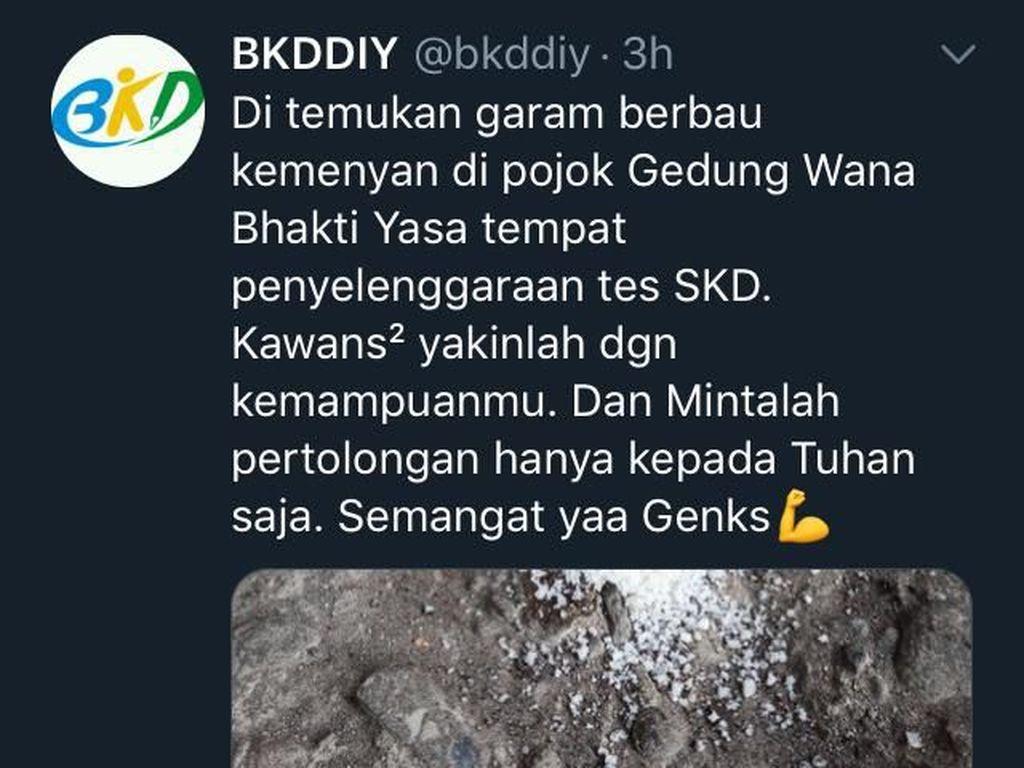 Ditemukan Garam Bau Kemenyan di Lokasi Tes CPNS di Yogya, Jimat?