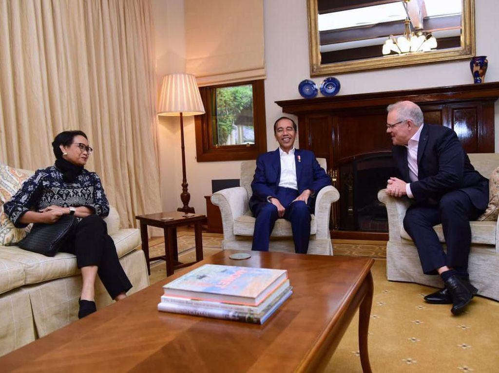 Bertemu PM Morrison, Jokowi Perkuat Kerja Sama Transportasi Udara RI-Australia
