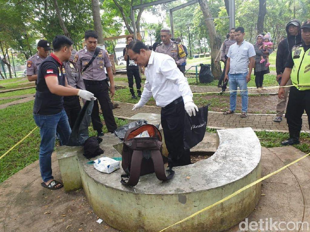 Mayat Bayi dalam Tas Hitam Ditemukan di Taman Menteng Bintaro