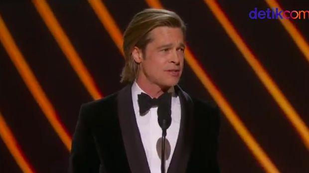 Brad Pitt raih Best Supporting Actor