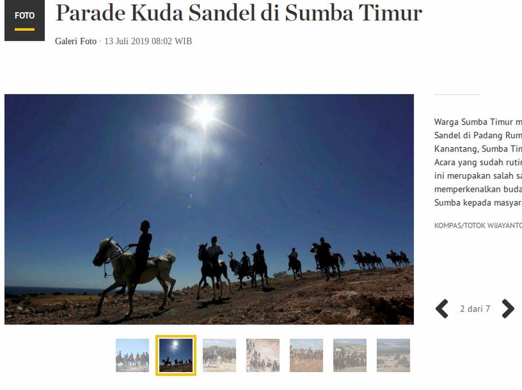 Di Balik Foto Parade Kuda Sandel di Sumba Timur yang Berjaya di HPN 2020