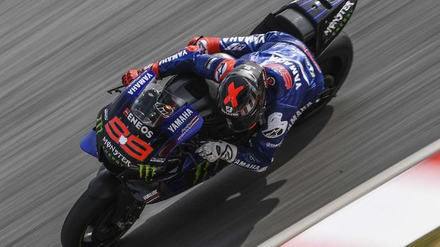 Yamaha Test Team's Spanish rider Jorge Lorenzo takes a corner during the last day of the pre-season MotoGP winter test at the Sepang International Circuit in Sepang on February 9, 2020. (Photo by MOHD RASFAN / AFP)