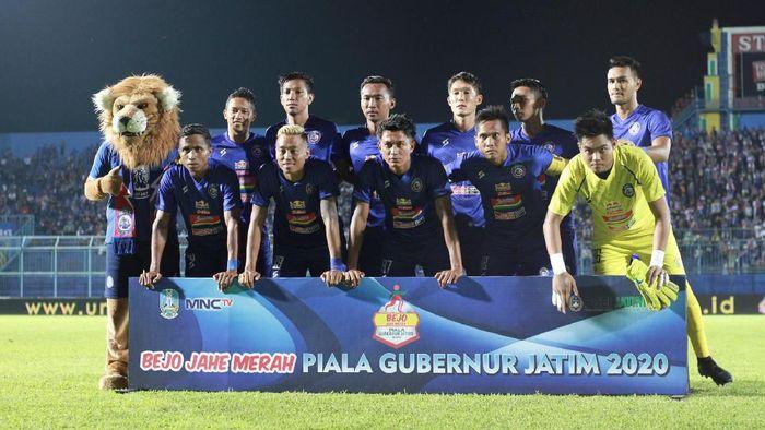 Arema FC memainkan laga perdana di Piala Gubernur Jatim menghadapi Sabah FA.