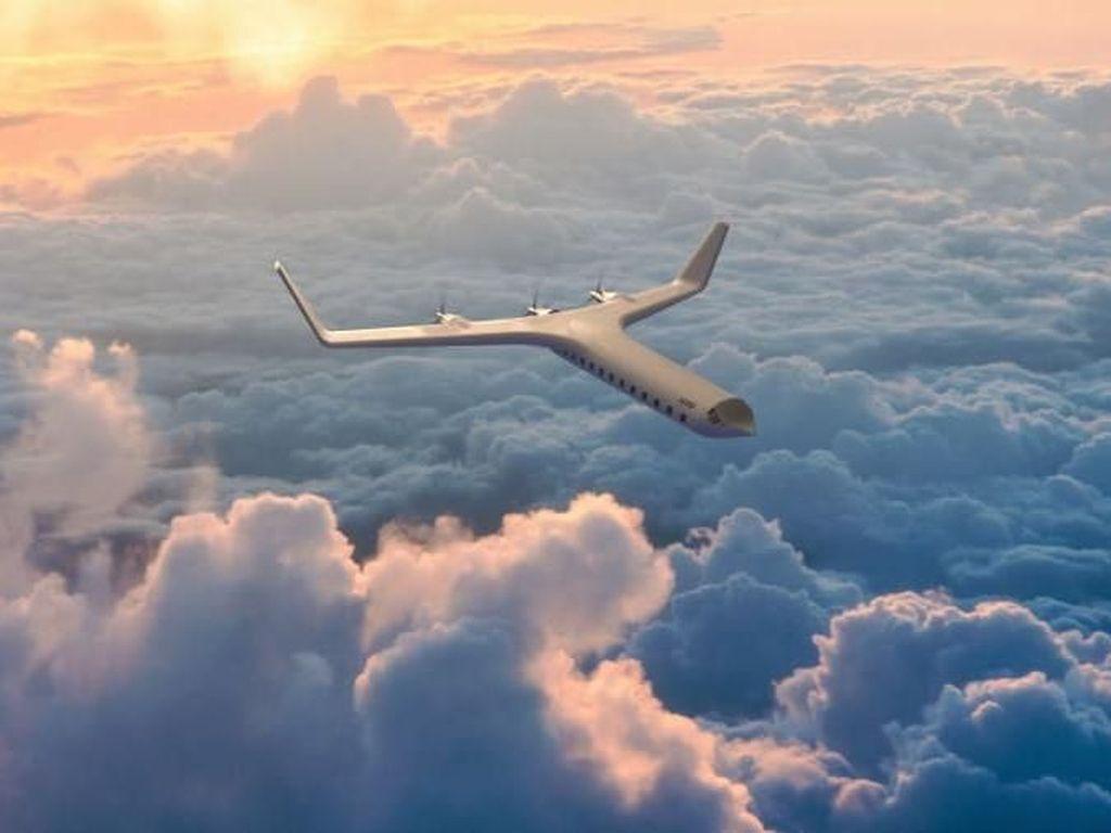 Foto Konsep Pesawat Listrik yang Aneh