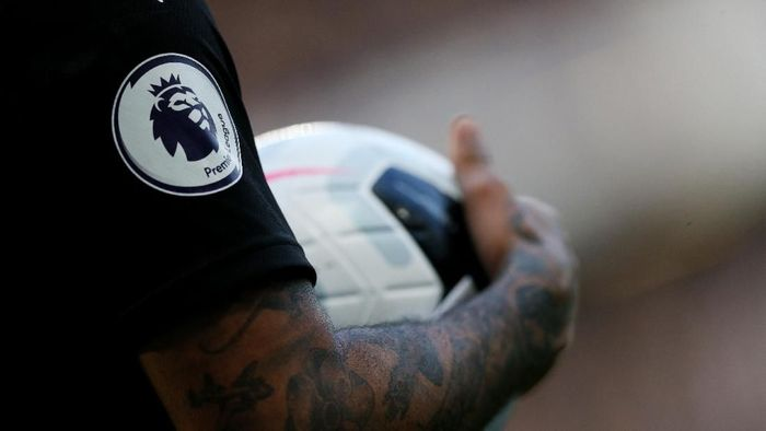 LONDON, ENGLAND - OCTOBER 19:  General View of DeAndre Yedlin of Newcastle Uniteds tattoos and the Premier League Logo during the Premier League match between Chelsea FC and Newcastle United at Stamford Bridge on October 19, 2019 in London, United Kingdom. (Photo by Paul Harding/Getty Images)