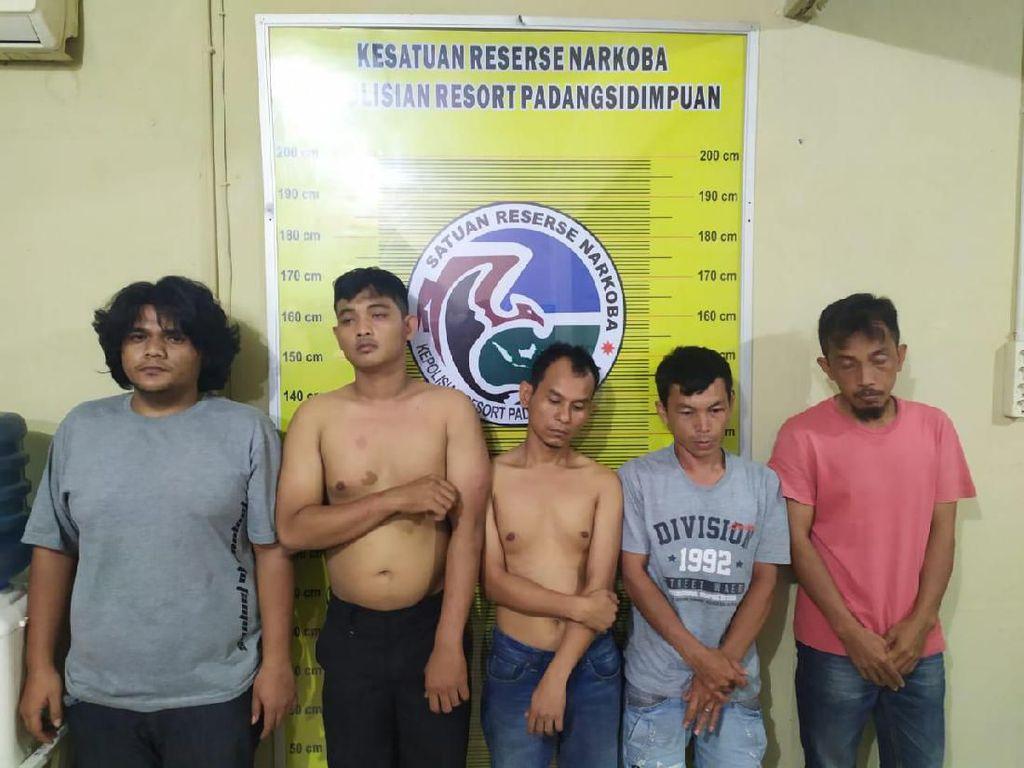 5 Pria di Padang Sidempuan Ditangkap Saat Nyabu, 1 Oknum Polisi Terlibat