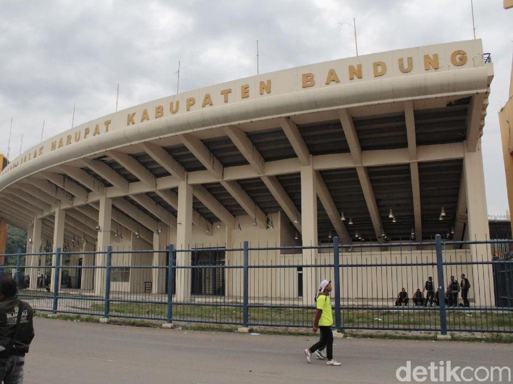 Jelang Persib Vs Barito Putera, Stadion Si Jalak Harupat Sepi