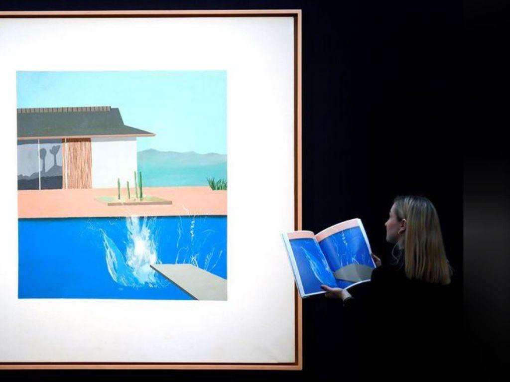 Wuih.. Lukisan Kolam Renang David Hockney Terjual Rp 314 Miliar