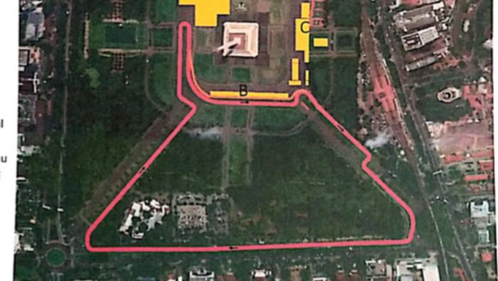 Desain Sirkuit Formula E Jakarta
