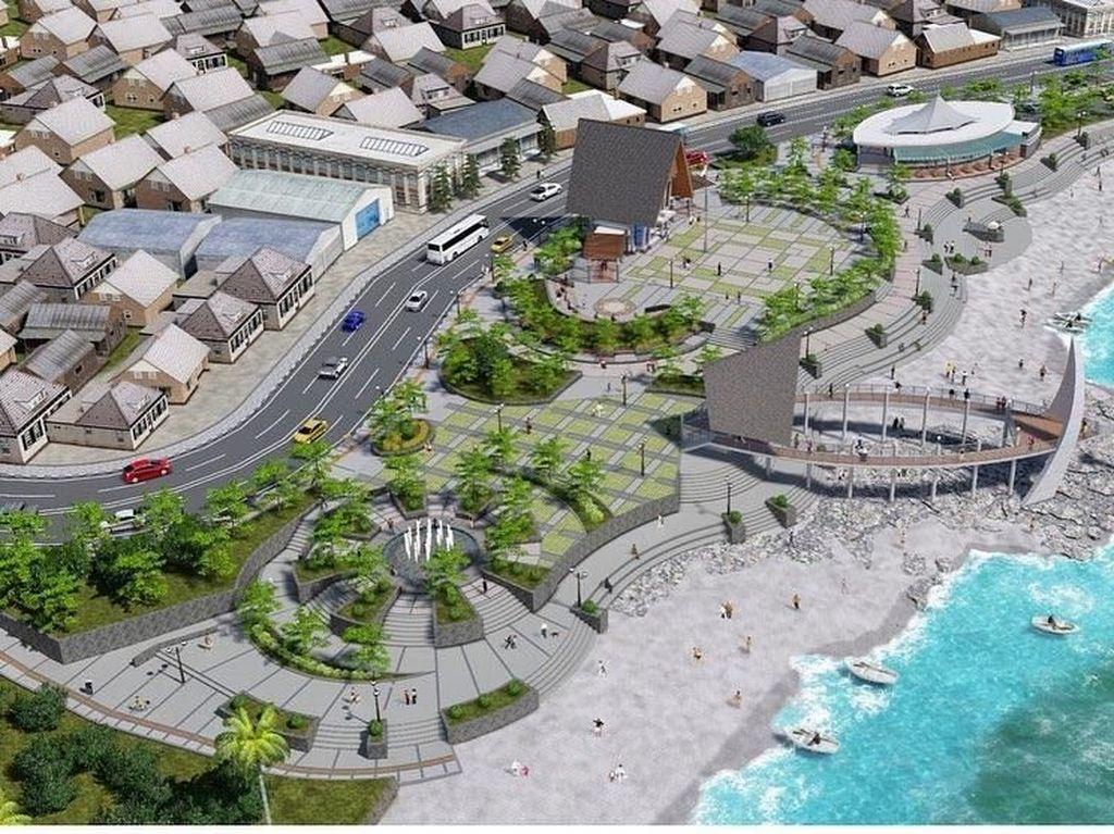 Perhatian! Alun-alun Pelabuhan Ratu Dijanjikan Akan Secantik Ini