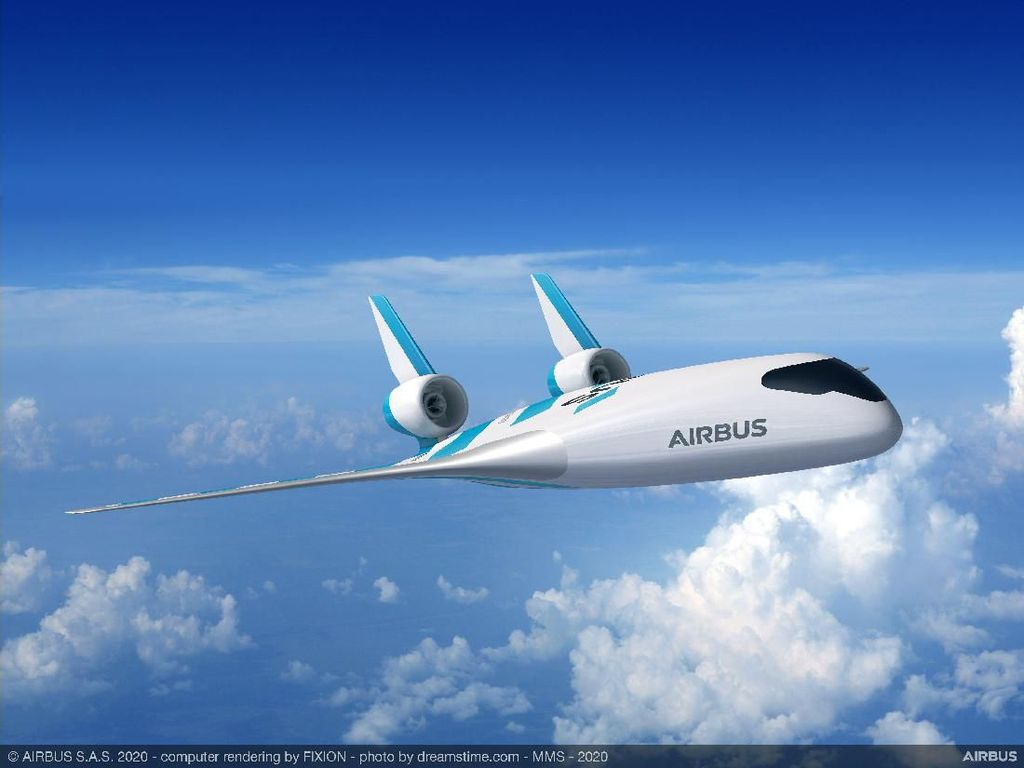 Pesawat Komersil Mirip Jet Tempur Siluman dari Airbus