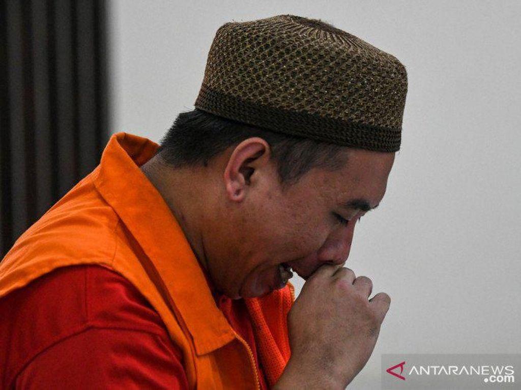 Dihukum Mati, Mafia Sabu dari Palembang Langsung Nangis Mewek