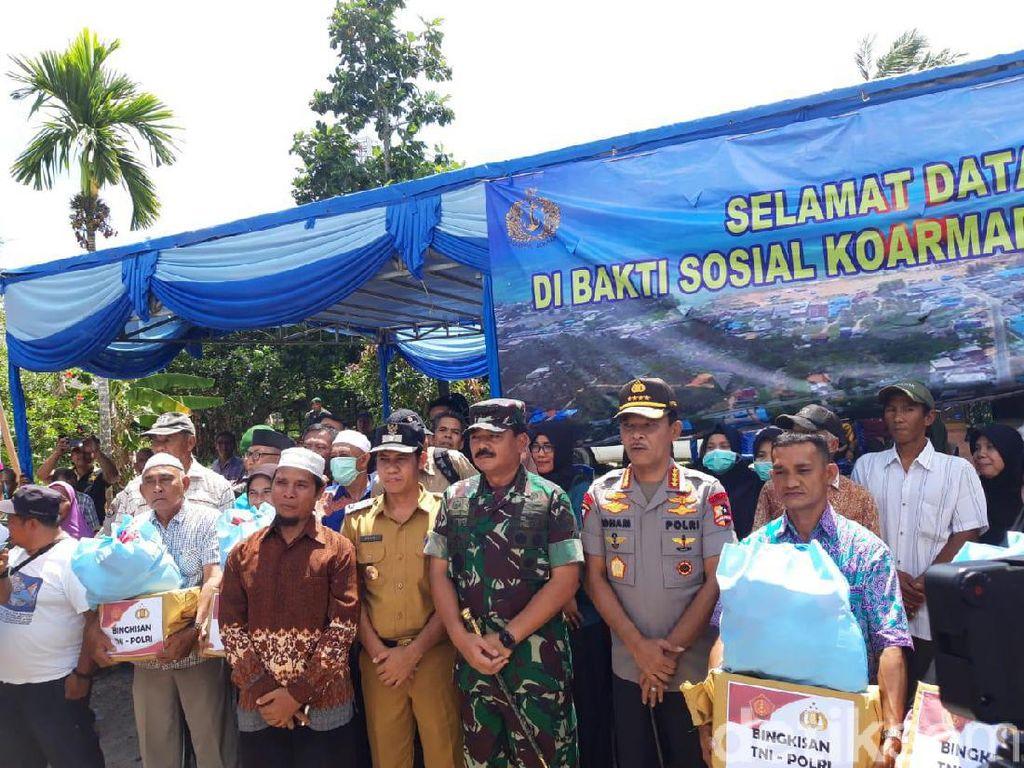 Sapa Warga Natuna, Panglima TNI-Kapolri Apresiasi Dukungan Observasi