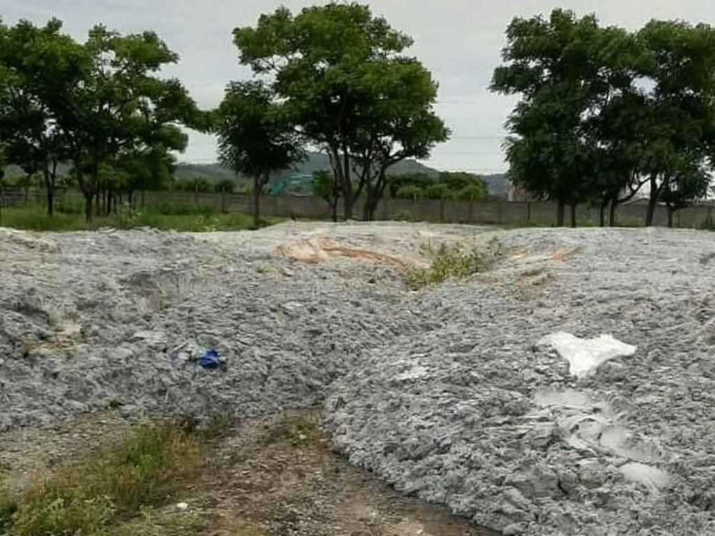Polisi Amankan Pembuang Limbah Kertas di Kawasan Industri Cilegon Banten
