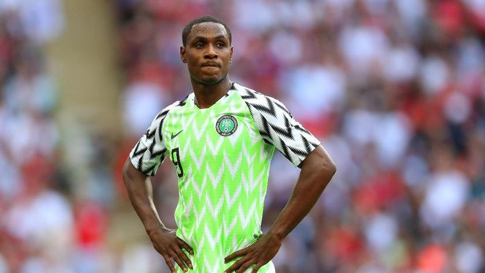 LONDON, ENGLAND - JUNE 02: Odion Ighalo of Nigeria during the International Friendly match between England and Nigeria at Wembley Stadium on June 2, 2018 in London, England. (Photo by Catherine Ivill/Getty Images)