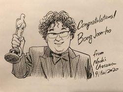 Persembahan Komikus Jepang pada Kemenangan Sutradara Film Parasite
