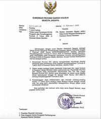 Ini Surat Anies yang Klaim Kantongi Rekomendasi TACB, Padahal Tidak