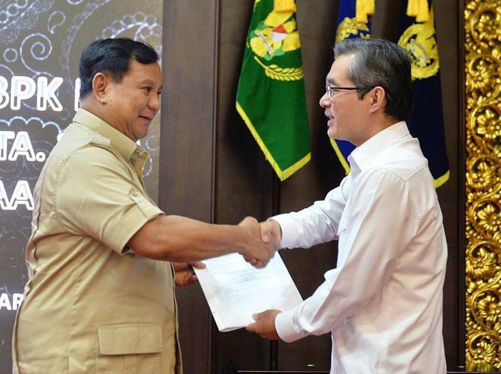 Terima BPK, Prabowo Serahkan Laporan-Bahas Ketepatan Penggunaan Anggaran