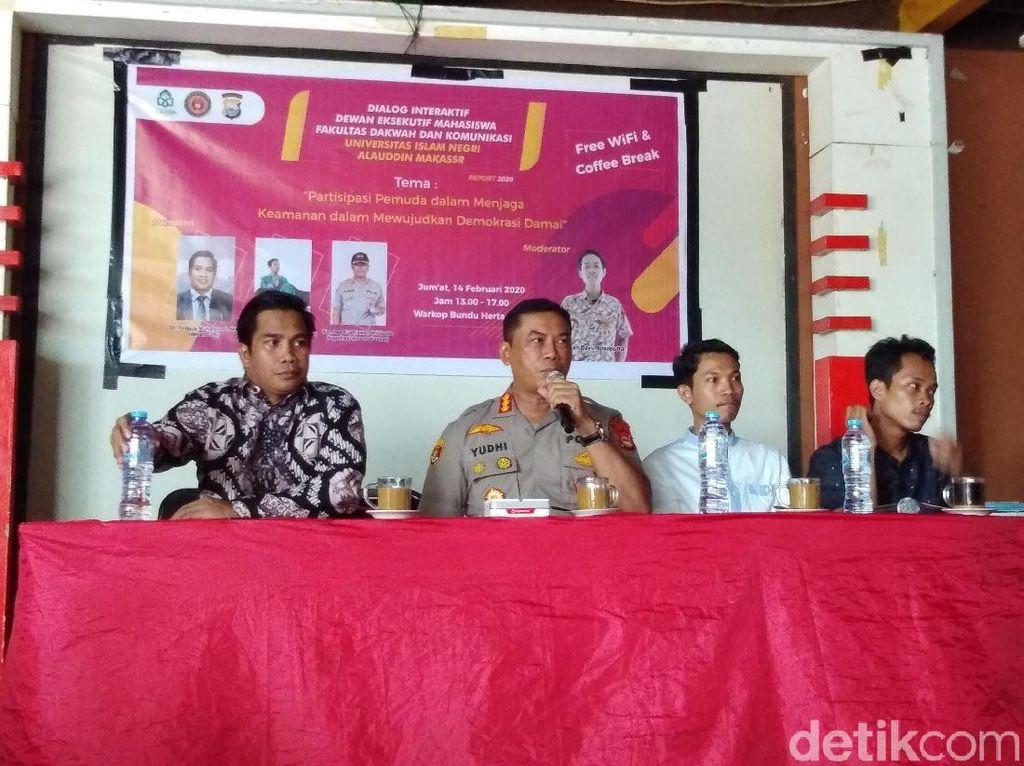 Bicara Potensi Kerawanan di Pilwalkot, Kapolres Makassar: Hati-hati Hoax
